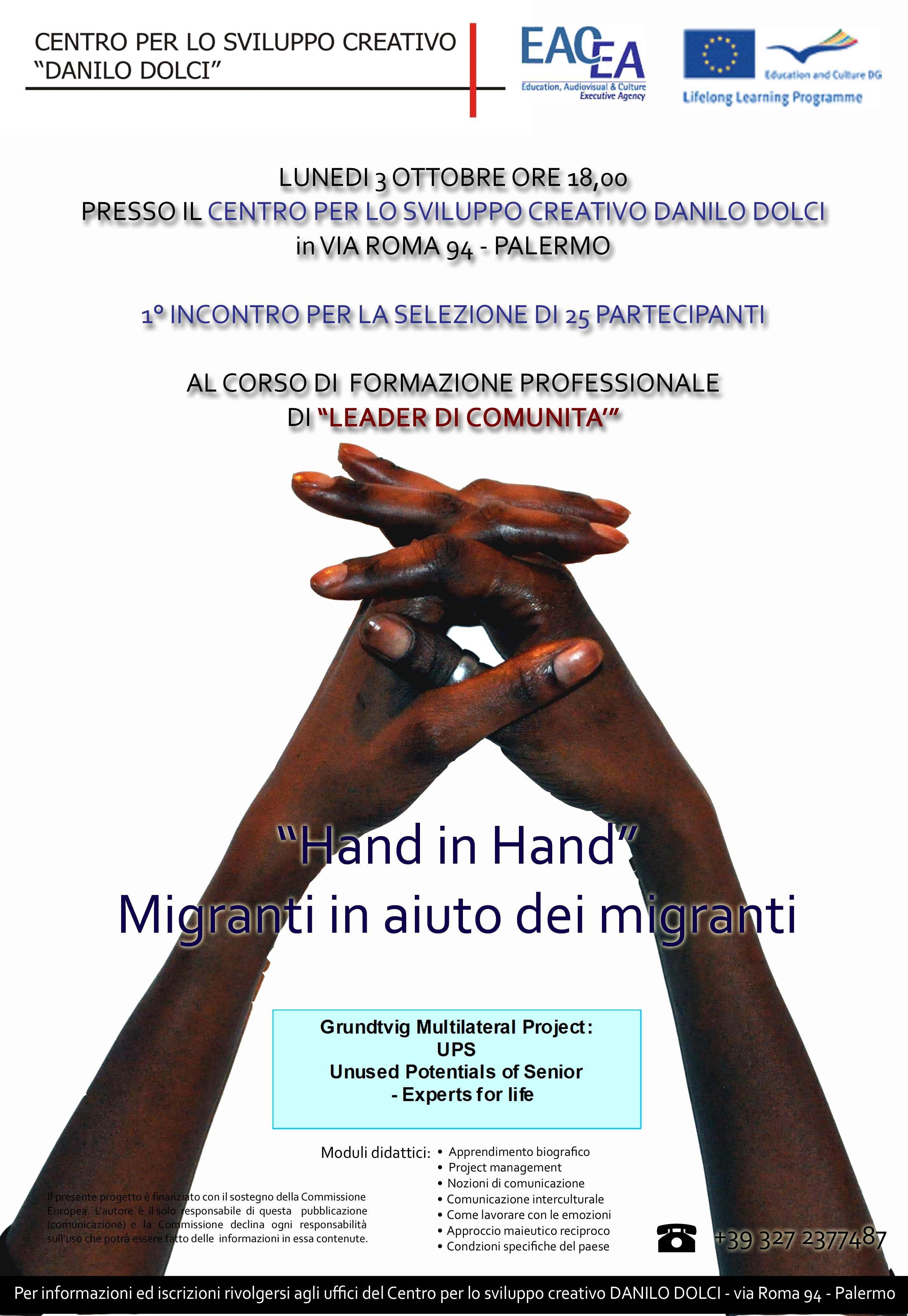 Hand in Hand training course for immigrant community leaders